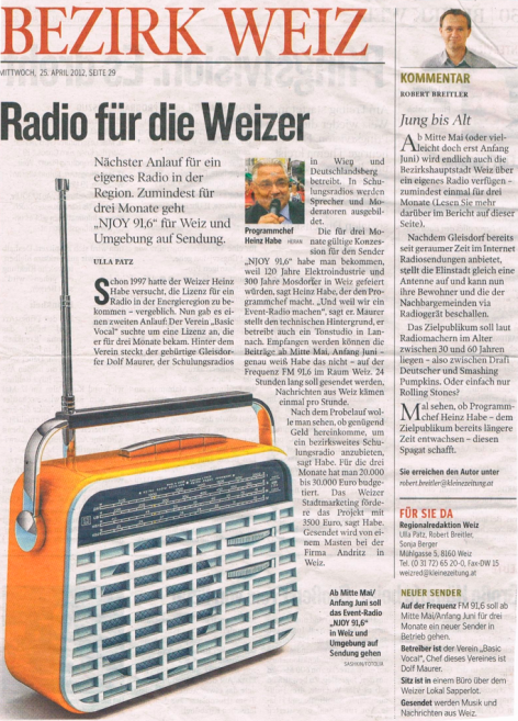 Member News: Local Radio Launch in Weiz
